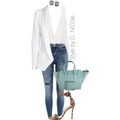 4435854722b9 A fashion look from January 2015 featuring SLY 010 blazers, River Island  jeans and Gianvito
