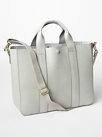 Leather tote crossbody from The Gap