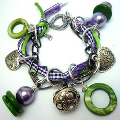 Tutorial for Purple and Green Bracelet