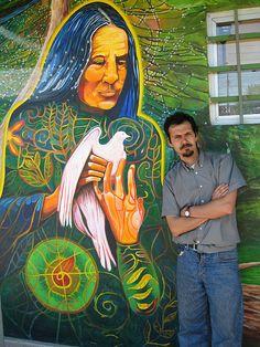 Mujer Del Bosque en la comuna de El Bosque,  Santiago, Chile 2008 con Carlos Lizama