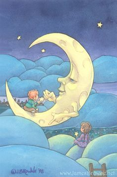 Moon Lighting 8.5x11 Signed Print with Story Included