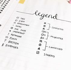 Intrepid image with bullet journal key printable