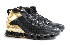 Picture of Nike Shox TLX Mid SP Black/Black-Metallic Gold