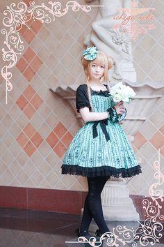 Strawberry ***Ichigomiko*** Summer Sweet Lolita OP and JSK