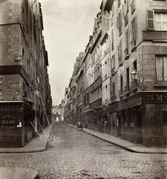 Marville : rue d'Aboukir, de la rue Montmartre - Paris 1er 1868 - Joséphine y habitait en 1882
