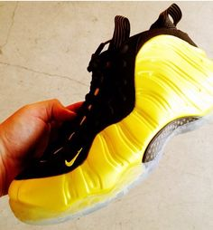 74668e21a7bf Black and Yellow Foam Posites