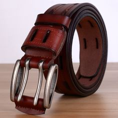 2016 New Brand Design Pin Buckle Belts of Men Male Top Geuine Leather Strap Belt men Classic Jeans Mens Pants Belt Luxury Cintos