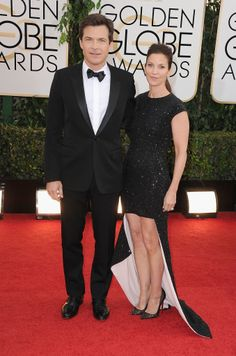 Jason Bateman and Amanda Anka hit the red carpet at the Golden Globes.