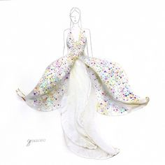Grace Ciao Graphic designer, wedding gowns from flower petals