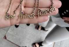 bff necklace---one for Ginny, one for Renee, and one for Ashley Bff Necklaces, Best Friend Necklaces, Best Friend Jewelry, Cheap Necklaces, Cute Necklace, Bracelets, Bff Gifts, Best Friend Gifts, Gifts For Friends
