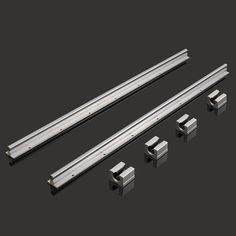 2Pcs SBR12-700mm Linear Bearing Slide Rails Linear Guide + 4Pcs SBR12UU Blocks For 3D Printer CNC