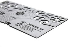 Laser engraved business card - what a cool idea!
