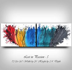 Abstract Painting Modern Wall Art Turquoise wall Art Painting Edges, Acrylic Painting Canvas, Contemporary Wall Art, Modern Art, Turquoise Wall Art, Large Artwork, Art Drawings, Abstract, Crafts