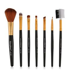 Gotd 7pcs Makeup Cosmetic Brushes Eyeshadow Eye Shadow Foundation Blending Brush Black >>> Continue to the product at the image link.