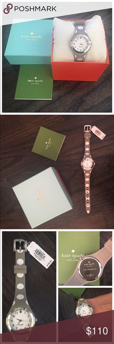 NWT Kate Spade Gray & White Polka Dot Watch Authentic Kate Spade gray and white polka dot watch. Silver bezel with silicone straps. 30mm. Ships with box and care booklet. NWT! No trades kate spade Accessories Watches