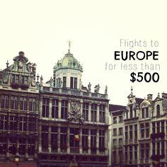 Cheapest Flights to Europe - Under $500 Round-Trip! #europe #travel #wanderlust #themileadvisor