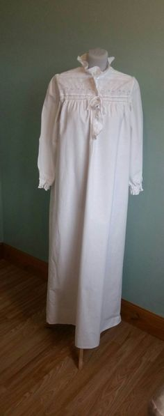Lange Vintage Baumwolle Nachthemd fantastische Qualität und