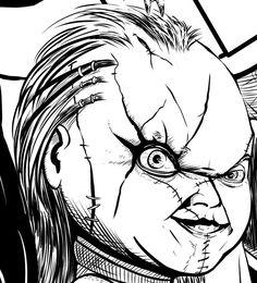 Child s Play Chucky face by DougSQ Chucky Face 5b0d59dfe