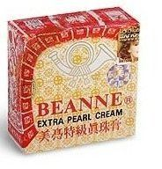 Beanne Extra Pearl Face Cream Yellow 0.3 Oz Box from Taiwan by Beanne. $5.49. Extra Pearl Cream. Lightening Dark Blotches. Taiwan Product. Remove Acne and Freckles. Whitens. One box with 0.3 Oz Beanne Extra Pearl Cream from Taiwan.