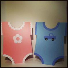 Baby Girl & Boy Onsie Card  Silhouette Cameo