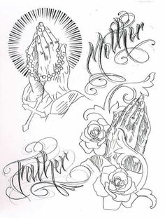 Leles Tattoo: Hand Tattoos with Rosary and Prayer - Leles Tattoo: Hand Tattoos with Rosary and Prayer - Sketch Tattoo Design, Tattoo Sleeve Designs, Tattoo Sketches, Tattoo Drawings, Body Art Tattoos, Hand Tattoos, Sleeve Tattoos, Stencils Tatuagem, Tattoo Stencils