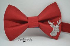 Men's Bow tie, Christmas bow tie, Reindeer, Gift for men, Christmas accessory, Handmade, Festive bow tie, Christmas outfit, Men's accessory