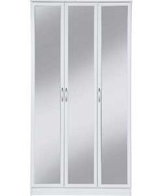 Buy Impressions 3 Door Mirrored Wardrobe - White at Argos.co.uk - Your Online Shop for Wardrobes, Wardrobes.