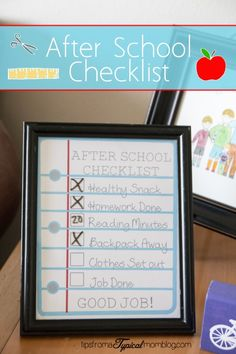 Is after school at your house as hectic as it is at my house? Well, this free printable After School Checklist should help you out a little.