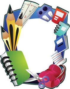 School frame vector design
