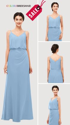 3d956e248ac9 Dusty Blue Bridesmaid Dresses 2019- ColsBM Sasha. 150+ colors and all sizes  available