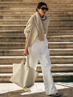 Find and save ideas about street style on Women Outfits. Beige Outfit, Street Style Chic, Spring Street Style, Looks Street Style, Looks Style, Fashion Week Paris, Spring Fashion, Mode Outfits, Fashion Outfits