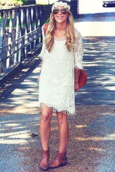 Hippie Beach Style #lace #summer #summerstyle