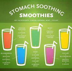 #Smoothies #Stomach soothing smoothies .I need one of these stat.. I love vita coco water ..That settles my tummy all on its own...
