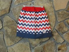 Patriotic Girl's Skirt in Red White and Navy by JustSewStinkinCute, $27.00
