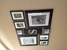 Picture collage - use dark stained wood frames instead of black.