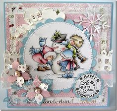 lili of the valley stamps...are they cute or what? Gorgeous card too!