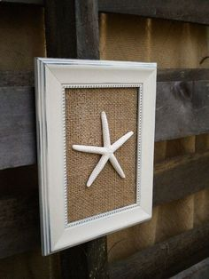 Cottage Chic Framed Starfish Beach Wall Art by OMearasCottageCharm, $14.99