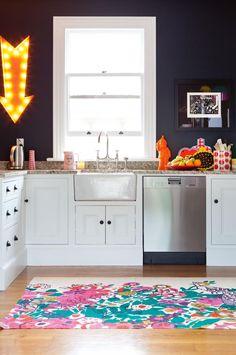 eclectic kitchen colour Fulton home Feb15 / Alex Fulton Design