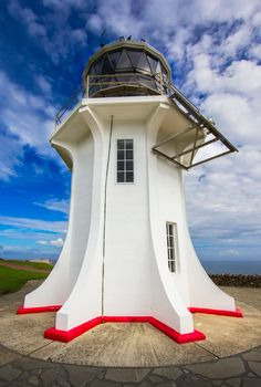Cape Reinga Lighthouse, Northland Region of the North Island, New Zealand. Lighthouse Lighting, Lighthouse Pictures, Beacon Of Light, Light Of The World, Water Tower, Le Moulin, New Zealand, Beautiful Places, Around The Worlds