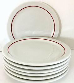"Midcentury Modern Hutschenreuther APART White China 6/"" Bread /& Butter Plates x2"