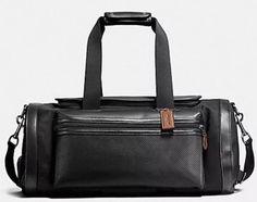 NWT Coach F56875 Terrain Gym Bag Duffle Perforated Mixed Materials