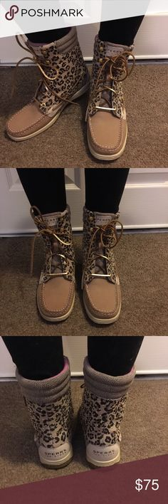 Sperry High Sider Boots Brand new without tags, never worn! Sperry Top-Sider Shoes Lace Up Boots