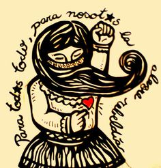 tatuajes glow in the dark Protest Kunst, Protest Art, Zine, Arte Latina, Feminist Tattoo, Chicano Tattoos, Mexico Art, Folk, Political Art