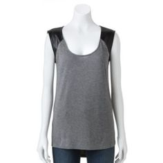 Rock & Republic Embellished Mixed-Media Top - Women's