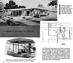 Plan 1843 - Architect: Jerry Gropp - New Homes Guide (1956), via Flickr.