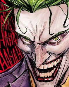 Joker Dc Comics, Joker Comic, Superman Comic, Arte Dc Comics, Joker Art, Comic Art, Comic Book, Batman Poster, Batman Art