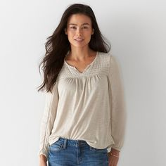 Petite SONOMA Goods for Life™ Pleated Peasant Top
