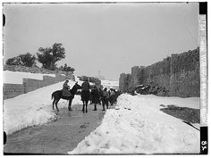 Jerusalem - القدس الشريف : Winter Snow at the Peace Gate/Wall from the Matson Collection Old City Jerusalem, Winter Snow, Gate, Freedom, Places, Outdoor, Islam, Walls, Collection