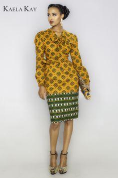 Dress by Kaela Kay ~Latest African Fashion, African Prints, African fashion styles, African clothing, Nigerian style, Ghanaian fashion, African women dresses, African Bags, African shoes, Nigerian fashion, Ankara, Kitenge, Aso okè, Kenté, brocade. ~DKK