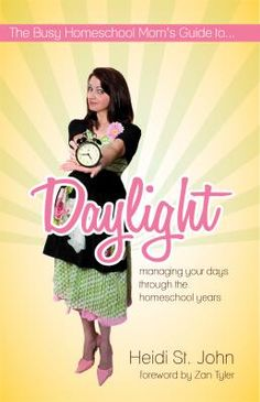 The Busy Homeschool Mom's Guide To...Daylight. Loved this book! Lots of tips on how to get the most out of our day! Most importantly, what God wants out of our day! Love her real life stories and humor!
